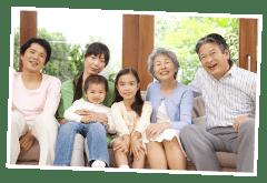 親子三世代(長寿祝い)